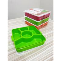Kindaichi Susun 1 / Microwave Lunch Box Catering Kotak Makan Sekat 5