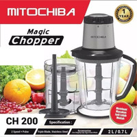 Mitochiba Food Processor Chopper Penggiling Bumbu Daging CH 200 CH200