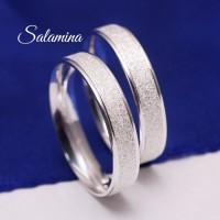 Cincin pasangan silver mewah zircon,titanium couple