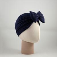 Turban Bow Rachel Navy/pita dewasa/pita bayi/ribbon/headband/turban
