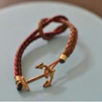 Kiel James Patrick KJP Gelang Bracelet Leather Kulit Valentine Super