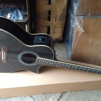 gitar new j cort akustik elektrik tuner