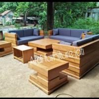 Meja kursi tamu kayu jati - kursi sofa ruang tamu furniture jepara