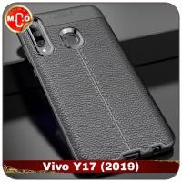 Vivo Y17 Y 17 Soft Leather Case Casing Sarung Cover HP