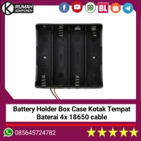 4x 18650 Battery Holder Baterai Case Batere Box Kotak Batre Dgn Kabel