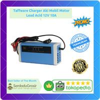 Taffware Alat Cas Aki/Accu/ Charger Aki Mobil Motor 12V 10A