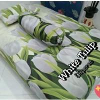 tulip putih sprei bagus sprei berkualitas sprei murah sprei motif