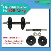 Body Gym Adjustable Dumbell Set Iron 7.5 kg paket dumbel & barbel