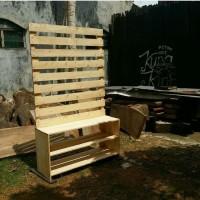 Rak partisi meja kayu jati belanda display bazar atau toko tas sepatu