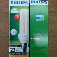 Bohlam Lampu Philips Essential 23 watt Warm White Kuning Hemat Energy