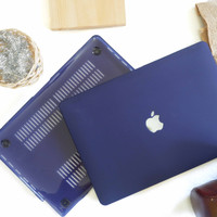 Case macbook New Air 11 12 Air 13 Pro 13 Retina 13 Matte DARKBLUE