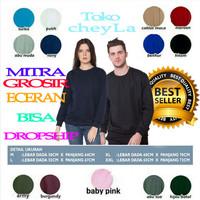 Jaket sweater pria wanita BASIC polos 13 warna - Benhur, M