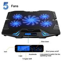 Cooling Pad Laptop 5 Fan Pendingin Laptop Stand Tatakan Meja Cooler
