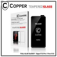 Oppo F11 Pro - COPPER Tempered Glass Full Glue PREMIUM Glossy