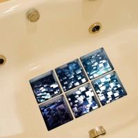 New PAG 6pcs 13x13cm Block Pattern 3D Anti Slip Waterproof