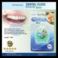 Liferesources Dental Floss Mint 50M Terbaik
