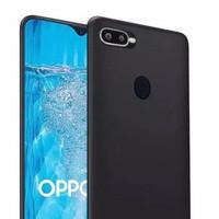 Softcase Oppo A7 / A5S / F9 / F11 Silikon Case Slim Black Matte grosir
