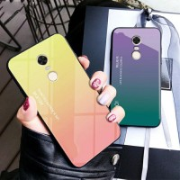 Gradient Glass Case Xiaomi Redmi 5+ Redmi 5 Plus Redmi5+ Back Casing