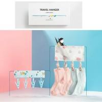 portable travel clip hanger & kosmetik pouch