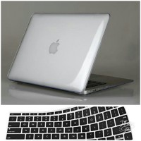 Case Macbook Air 13 Transparan + Keyboard Cover Mac Air 2009-2017