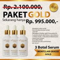 Mau Garansi Uang Kembali? Paket Gold 3 Botol - Montclair Hair Serum