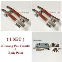 Tarikan Pintu STAINLESS/Pull Handle + Body Kunci | Cobra NT