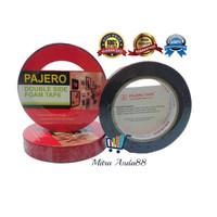 "ISOLASI DOUBLE TAPE PAJERO FOAM HIJAU/MERAH (1""X4M+A59)"
