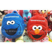 TAS RANSEL BONEKA ANAK SESAME STREET ELMO COOKIE COOKIES MONSTER