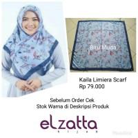 Hijab Jilbab Kerudung Segi Empat KAILA LIMIERA Scarf ELZATTA Original