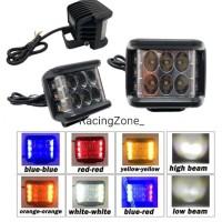 Lampu Tembak Strobo 6 Led Mini High - Low Untuk Motor Dan Mobil Import