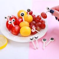 New 10pcs Mini Cartoon Ant Eye Fruit Fork set for Party Cake