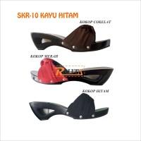 SKR10 Kayu Hitam sandal kelom model kijang kokop sanggul