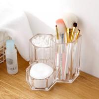 Acrylic makeup organizer rak tempat penyimpanan akrilik laci meja