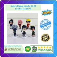 Action Figure Naruto 6 PCS - Model 18 Full Set