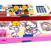 Tempat Pensil Kalkulator / 2 Magnet / Stationary /Perlengkapan Sekolah