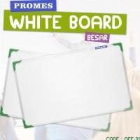Papan Tulis White Board Gantung Ukuran 70X50 Cm Besar (Off-38)