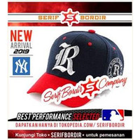 Topi Baseball Bordir Classic Converse Navy Reds Huruf R