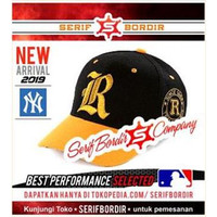 Topi Baseball Bordir Classic Converse Black Yellow Huruf R