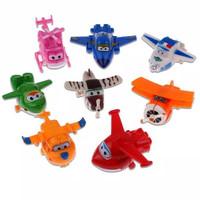 Mainan Figure Set Robot Super Wings / Superwings / Superwing isi 8 Pcs