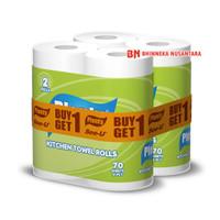 Plenty Kitchen Towel Rolls Tissue 2 In 1 [2 Ply/70 Sheets]