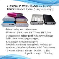 Casing Power Bank 4x Batre/Baterai 18650 Model XIOMI (Tanpa Batre)