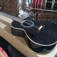 gitar akustik new elektrik cort new