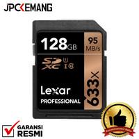 Lexar 128GB Professional UHS-I SDXC Memory Card (U1) GARANSI RESMI