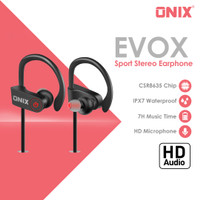 Onix Bluetooth Earphone EVOX - Hanging Sweat Proof with Amaze HD Sound