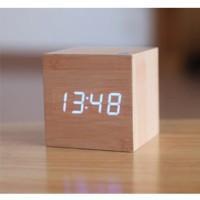 Jam Digital LED Kayu - JK-808 - Wooden