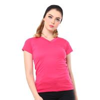 MOSIRU Kaos Wanita Baju Oblong Termurah Tumblr Tee V-Neck Pendek