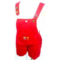 37-42* 6 bulan - 3 tahun Overall baju kodok baju monyet pendek anak - 2-3 tahun, Kuning