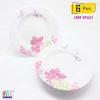 6 Pcs Piring Makan 9 inch ONYX Melamin Seraphina - 1809 SPA01