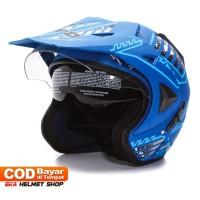 Helm Dewasa WTO Helmet Pro-Sight Cross - Seablue Doff