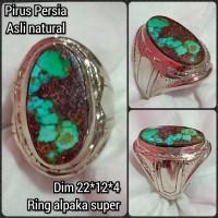 cincin batu akik permata pirus persia 17 kwalitas asli natural